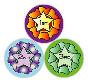 italian gifts rosette 1st 2nd 3rd sports stickers