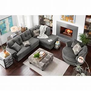 elegant sectional sofa ottoman set sectional sofas With westwood casual u shaped sectional sofa ottoman set
