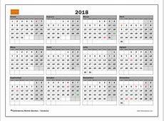 Calendario 2018, Cataluña
