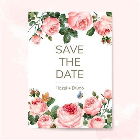 wedding invitation card decorated  roses