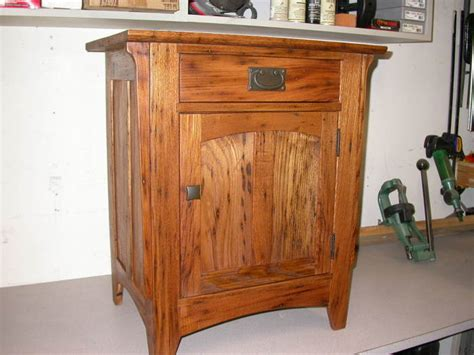 arts  crafts night stand finewoodworking