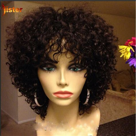 Short Human Hair Wigs Brazilian Human Hair Short Curly