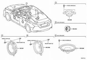 Toyota Camry Speaker  Front  Rear