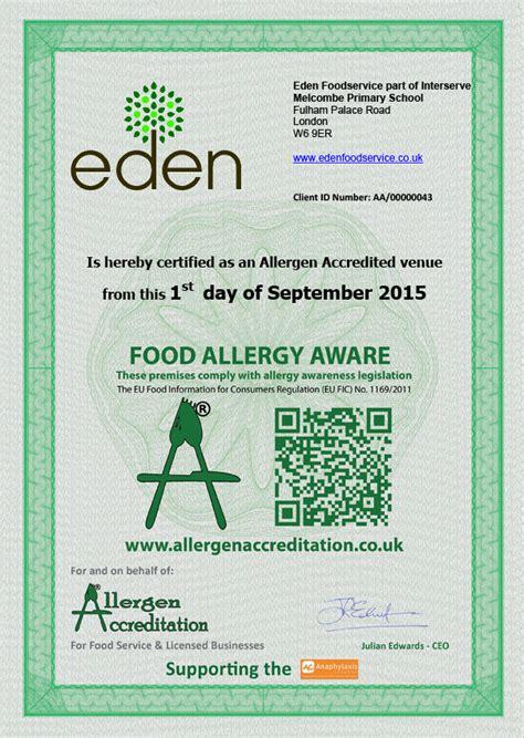 eu allergy law understood  melcombe primary