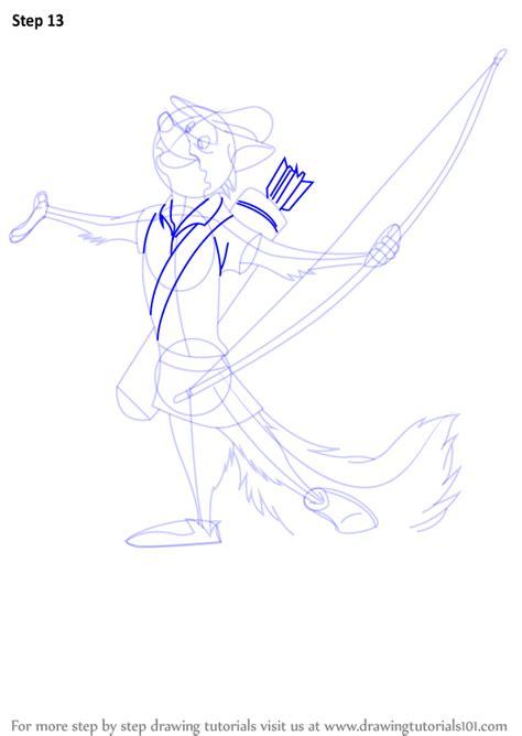 learn   draw robin  fox  robin hood robin