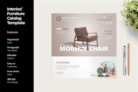 furniture  interior catalog templates creative market