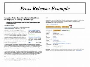 online marketing workshop using press releases to promote With how to write a good press release template