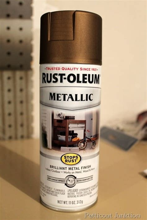 paint spray antique clock rust oleum shiny glass brass metallic change sprayed pendulum salvage saturday circle around use petticoatjunktion