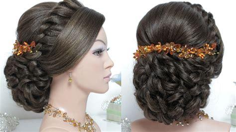 bridal hairstyle  long hair tutorial wedding updo step