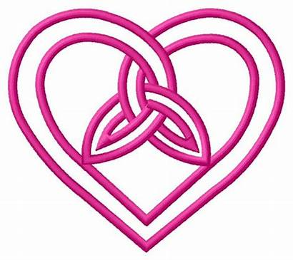 Celtic Heart Designs Outline Knot Embroidery Clipart