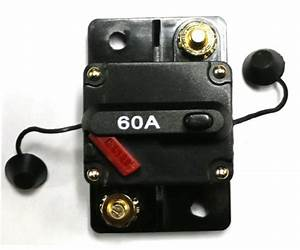 Caliber Cb60 60amp Marine Grade Circuit Breaker 60a W