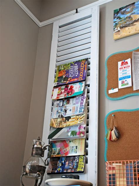 magazine  book storage ideas diy