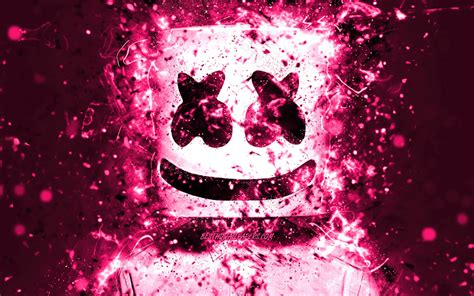 4k Resolution Neon Marshmello Wallpaper 3d by Wallpapers 4k Dj Marshmello Christopher