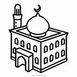 Coloring Masjid Pages Mosque Getcolorings Printable Print sketch template