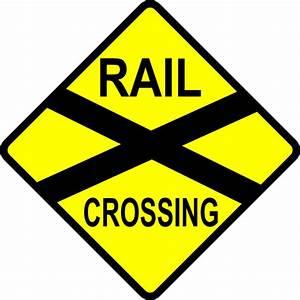 Caution Railroad Crossing Clip Art at Clker.com - vector ...