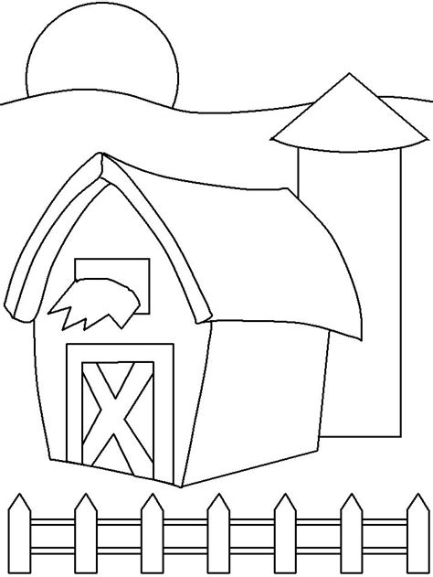 barnyard  collages  coloring   farm theme
