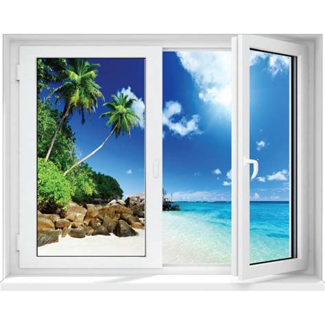 stickers fen 234 tre trompe l oeil d 233 co caraibes stickers autocollants