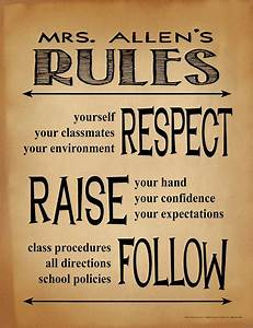 etsy policies template - classroom rules personalized art print teacher gift for