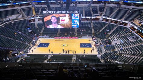 bankers life fieldhouse section  indiana pacers