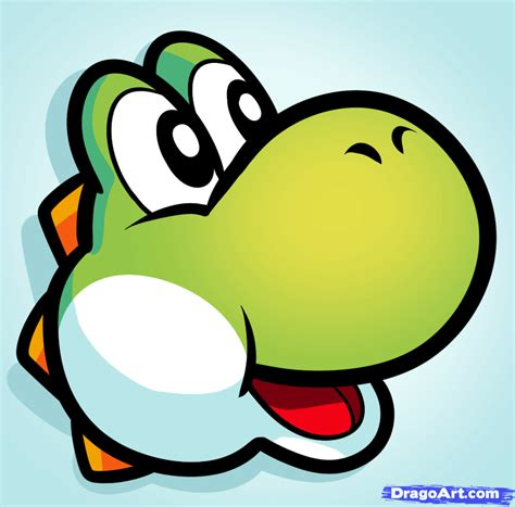 draw yoshi easy step  step video game