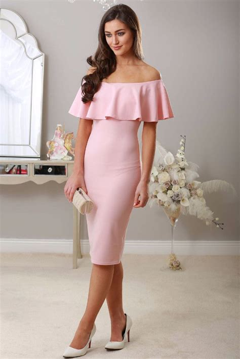 Flouncy Ruffle Off-The-Shoulder Midi Dress Ideas u2013 Designers Outfits Collection