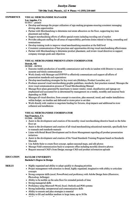 Visual Merchandiser Resume by Visual Merchandise Resume Sles Velvet
