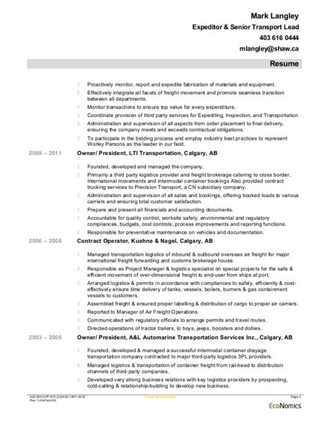 Project Expeditor Resume by Langley Worleyparsons Expeditingfeb 09 2015 Resume