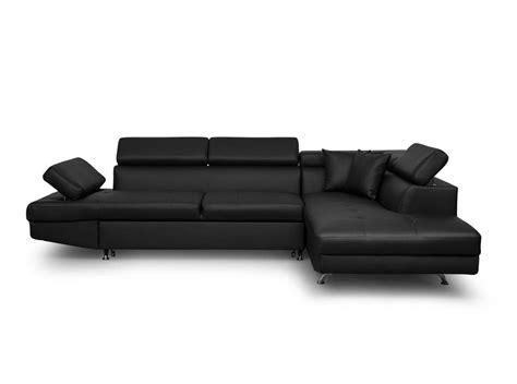 canapé coffre canapé d 39 angle droit convertible avec coffre noir ebay