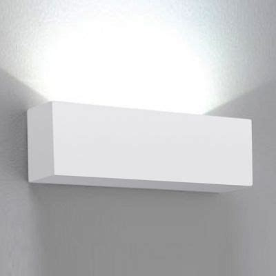 buy modern square ceramic indoor wall light fitting white