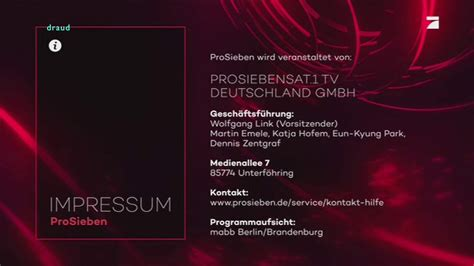 It was launched on 1 january 1989. ProSieben Impressum// XL (2018) - YouTube