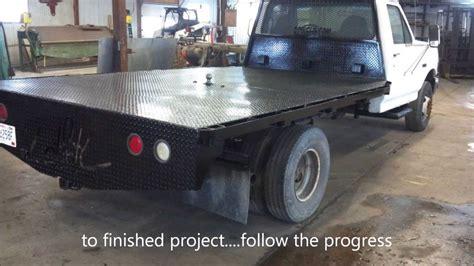 custom fabricated diamond plate truck flatbed  cnc plasma cut lettering youtube