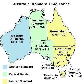 time zones australia