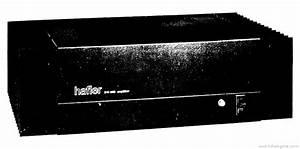 Hafler Dh-200 - Manual - Stereo Power Amplifier Kit