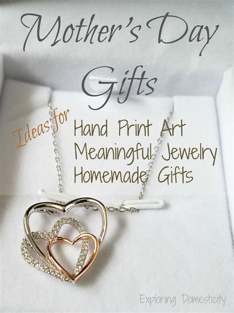 mothers day gifts homemade meaningful jewelry  hand