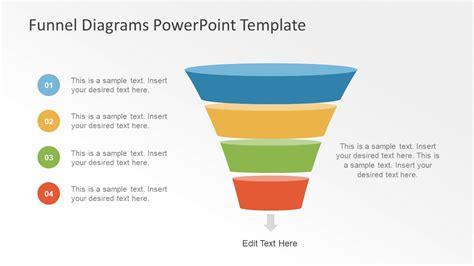 marketing funnel template funnel diagram presentation for sales slidemodel