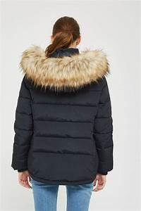 topshop maternity nancy puffer jacket in navy blue blue