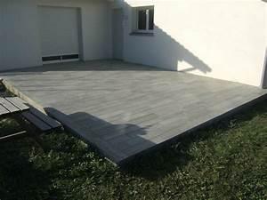 Carrelage terrasse imitation plancher carrelagebommart for Terrasse carrelage