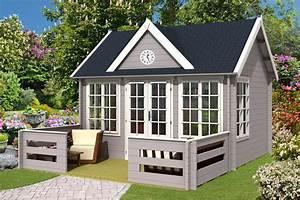 Gartenhaus Mit Terrasse : gartenhaus clockhouse 44 royal mit terrasse a z gartenhaus gmbh ~ Whattoseeinmadrid.com Haus und Dekorationen
