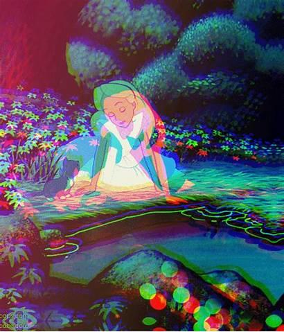 Acid Trip Trippy Aesthetic Alice Wonderland Mushroom