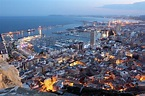 Aerial view of Alicante at dusk ... | Stock image | Colourbox