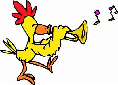 Funny Clipart Clip Playing Instrument Pollos Abc