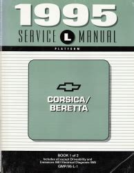 automotive service manuals 1995 chevrolet beretta user handbook 1995 chevrolet corsica beretta factory service manual 2 volume set