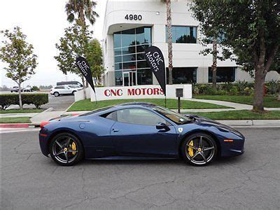 Equipped with the f1 dual clutch transmission, 20 sport forged diamond wheels, silver painted brake calipers, scuderia ferrari shields, front and rear parking. Buy used 2010 Ferrari 458 Italia Coupe TDF Blu Tour De ...