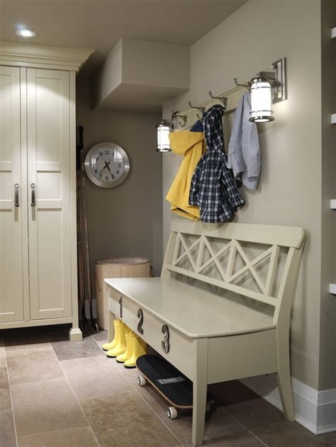 mud room design cottage laundry room ici dulux toast gray sarah richardson design