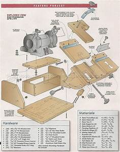 Bench Grinder Tool Rest Plans • WoodArchivist