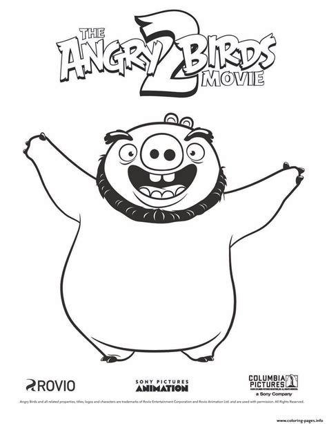 pig leonard  angry birds   coloring pages printable