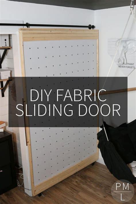 diy fabric sliding door remodelaholic contributors diy