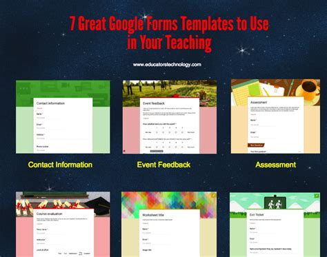 great google forms templates     teaching