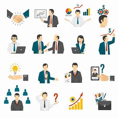 Business Training Vector Consulting Icons Service Clipart
