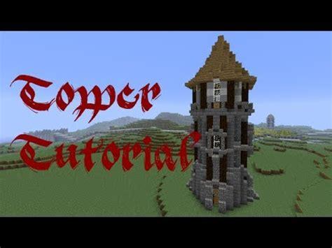 minecraft tower tutorial youtube